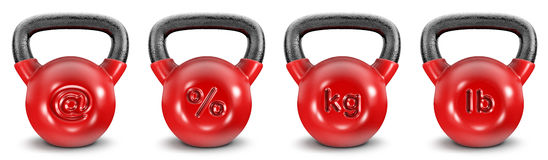 Kettlebell symbols Stock Photos