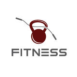 Kettlebell vector design template Royalty Free Stock Photography