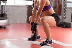 Kettlebell weight exercise Stock Images