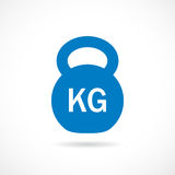 Kettlebell weight vector icon Stock Image