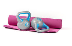 Kettlebell weights Royalty Free Stock Photo