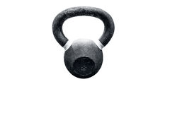 Kettlebell on a white background. Iron kettlebell on a white background Stock Photo