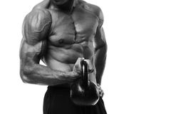 Kettlebell Workout Royalty Free Stock Images