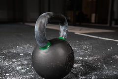 Kettlebells bar  in gym. Iron Kettlebells in fitness gym Royalty Free Stock Image