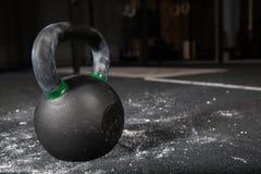 Kettlebells bar  in gym. Iron Kettlebells in fitness gym Stock Image