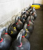 Kettlebells At Cross Fitness Box Royalty Free Stock Photography