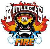 Kettlebells on fire Royalty Free Stock Image