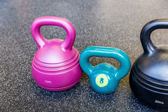 Kettlebells in the gym Stock Image