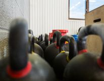 Kettlebells At Gym Royalty Free Stock Images