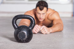 Kettlebells training crossfit fitness Royalty Free Stock Image