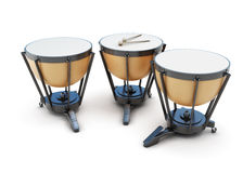 Kettledrums on a white Royalty Free Stock Photo