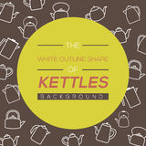 Kettles Background. Stock Images
