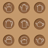 Kettles Icon Royalty Free Stock Photo
