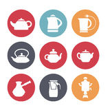 Kettles for kitchen. Royalty Free Stock Image