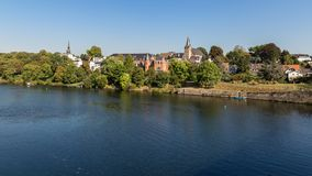 Kettwig, area di Essen, Ruhr, Renania settentrionale-Vestfalia, Germania fotografia stock
