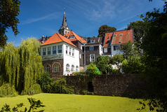 Kettwig. Landscape with the old church in Kettwig,Germany Royalty Free Stock Photo