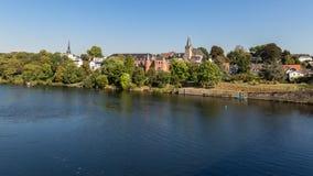 Kettwig, région d'Essen, la Ruhr, Rhénanie-du-Nord-Westphalie, Allemagne photographie stock
