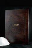 Ketubah. Jewish wedding contract (ketubah) on a black background Stock Images