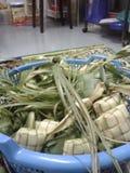 KETUPAT: Παραδοσιακά τρόφιμα της Μαλαισίας Στοκ Φωτογραφίες