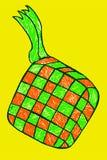 Ketupat, еда Индонезии традиционная иллюстрация штока