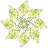 ketupat 8 odosobnionych gwiazd Zdjęcie Royalty Free