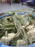 KETUPAT: Alimento tradizionale della Malesia fotografia stock