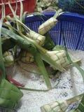 KETUPAT: Alimento tradizionale della Malesia fotografie stock libere da diritti