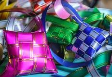 Ketupat. The Colorful ribbons of ketupat