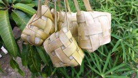 Ketupat, das gekocht worden ist Stockbild