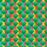 Ketupat diamond shape seamless pattern Stock Images