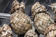 Ketupat - glutinous rice Stock Photos