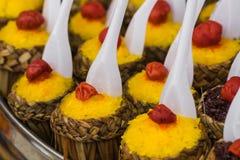 Ketupat - glutinous rice Stock Photography