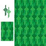 Ketupat ikony bezszwowy wzór Fotografia Stock