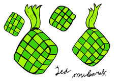 Ketupat, indonesia traditional food Royalty Free Stock Photography