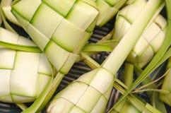 Ketupat Nasi框米饺子 Ketupat是传统食物在Eid欢乐季节期间在马来西亚 免版税库存照片