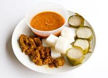 Ketupat rendang Lemang Стоковое Изображение RF