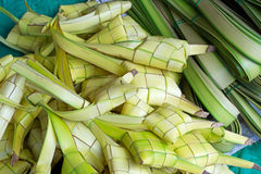 Ketupat Rice Dumpling Casing. Rice dumpling casing or also know as ketupat made from coconut palm leaf. Ketupat is a type of dumpling made from rice packed Royalty Free Stock Photography