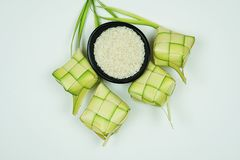 Ketupat or rice dumpling made from young coconut leaves for cooking rice.