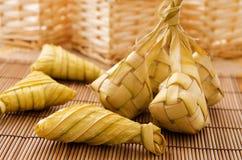 Ketupat or rice dumpling. Royalty Free Stock Photography