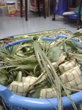 KETUPAT : Traditional food of malaysia Stock Photos