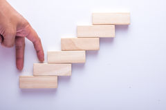 KetupatWood block stacking as step stair, Business concept for growth success process. Wood block stacking as step stair, Business concept for growth success Stock Images