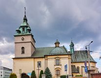 KETY, Poland, Church Saint. Malgorzaty and Katarzyna. The baroque church built in 1657-1685 is located near the main square Royalty Free Stock Images