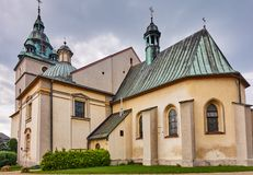 KETY, POLAND: Church Saint. Malgorzaty and Katarzyna. The baroque church built in 1657-1685 is located near the main square royalty free stock photography