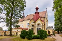 KETY, POLAND: Franciscan monastery. The church was consecrated on October 4, 1714. The faithful come to the chapel in order to obt Royalty Free Stock Image