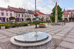 KETY, POLAND - JULY 15, 2018: The main square of the city on 15 Royalty Free Stock Photo