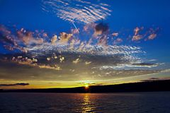 Keuka sunrise. Colorful keuka sunrise Stock Photo