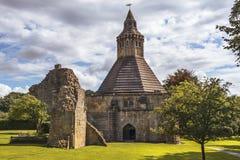 Keuken abt van Glastonbury-Abdij, Somerset, Engeland royalty-vrije stock foto
