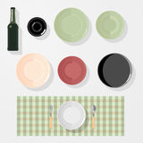 Keuken, bar, de elementen van het restaurantontwerp Royalty-vrije Stock Afbeelding