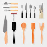 Keuken, bar, de elementen van het restaurantontwerp Stock Afbeelding