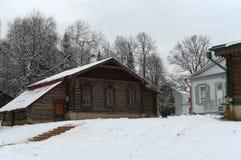 Keuken in de museum-reserve Abramtsevo Het gebied van Moskou Het district van Sergievposad Dorp Abramtsevo stock foto's